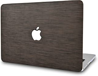 LuvCase Laptop Case for MacBook Air 13 Inch(2020/2019/2018) A2179/A1932 Retina Display (Touch ID)LeatherHardShellCover (Dark Brown Saffiano Leather)