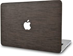 LuvCase Leather Hard Shell Case Cover Compatible MacBook Air 13 Inch 2019/2018 New Version A1932 with Retina Display (Touch ID) (Dark Brown Saffiano Leather)