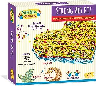 String Art Kit - Makes 3 Different Canvases - Craft Kit for Tweens