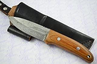 New Fantastic Sheffield Made Damascus Steel Hunting/Bushcraft Knife Micarta Scales Unbelievable l@@k