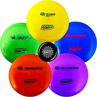 Innova Premium Beginner's Disc Golf Set – GStar Putter, Mid-Range, Driver – Durable, Flexible and Supple Plastic– Colors Will Vary – 150-169g