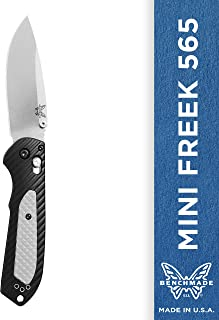Benchmade - Mini Freek 565 Knife, Drop-Point Blade Dual Durometer Handle, Made in The USA