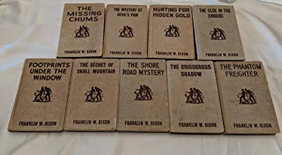 Set of 9 Hardy Boys: Hunting for Hidden Gold, Footprints Under the Window, Devil's Paw, Skull Mountain, Crisscross Shadow. . .