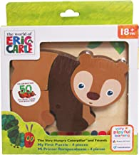 KIDS PREFERRED World of Eric Carle, The Very Hungry Caterpillar Brown Bear 4 Piece Wooden Puzzle