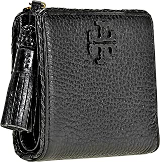 Tory Burch Taylor Mini Wallet Women's Leather Card Case ID Holder (Black)