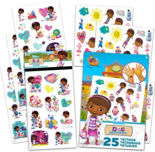 Disney Doc McStuffins Stickers and Tattoos 8 Pack ~ 200 Doc McStuffins Stickers and Temporary Tattoos for Kids Party Suppl...