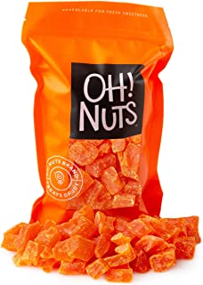 Oh! Nuts Dried Papaya Chunks | 2lb Bulk Bag of Diced Dry Pawpaw Tree Papaya Bites for Snacking & Baking | Light Sugar Coat...
