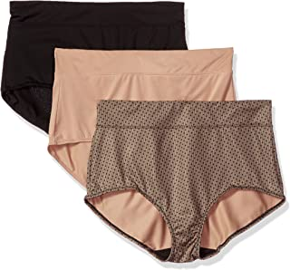Women's Blissful Benefits No Muffin Top 3 Pack Brief Panty