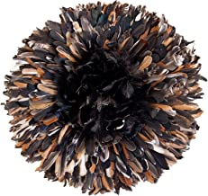 Zeal Living Authentic African Juju Hat - Dark Multicolor, Small