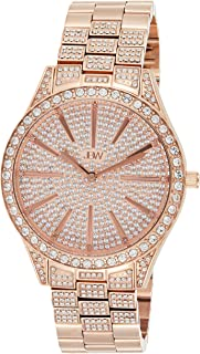 JBW Women's Luxury Cristal 12 Diamonds & 467 Swarovski Crystals Full Bling Watch - J6346B