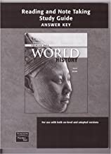 Prentice Hall- Reading and Note Taking Study Guide (Answer Key): World History