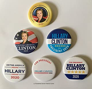Hillary Clinton for President Set of 6 Campaign Button (HCLINTON-701-ALL)