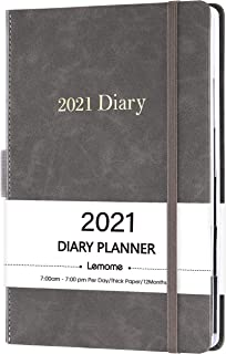 """2021 Diary Planner/Appointment Book - 2021 Hourly Planner 5-3/4"""" x 8-1/2"""", January 2021 - December 2021, Daily Planner wit..."""