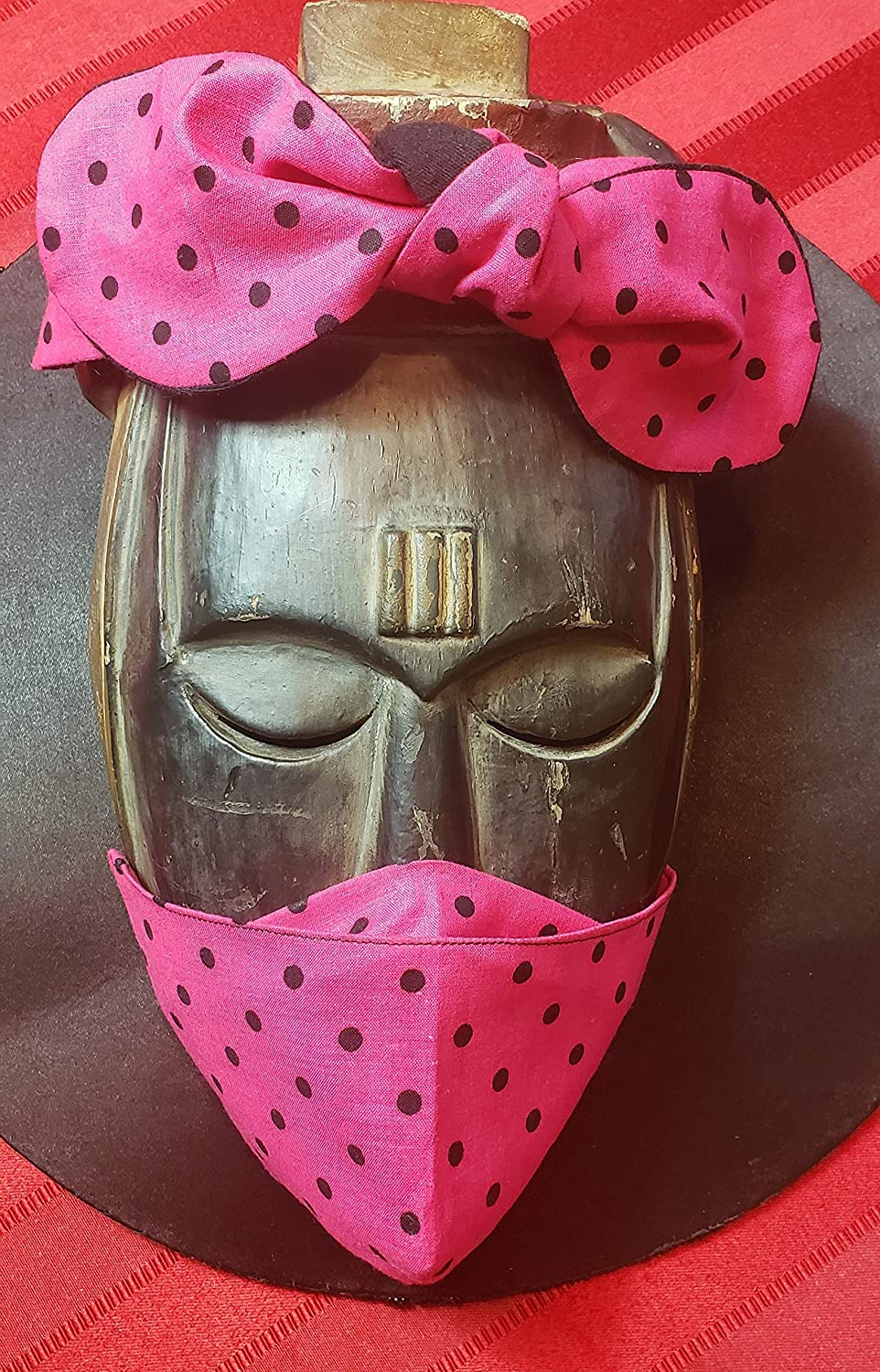 Limited Special Price Handmade headband with Max 85% OFF matching face PI cotton mask -LOVE soft