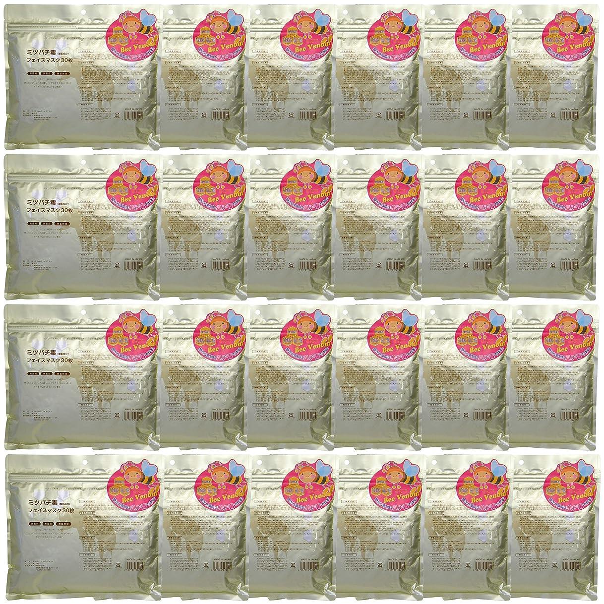 安定息を切らして橋ミツバチ毒フェイスマスク 30枚入 ×24個セット