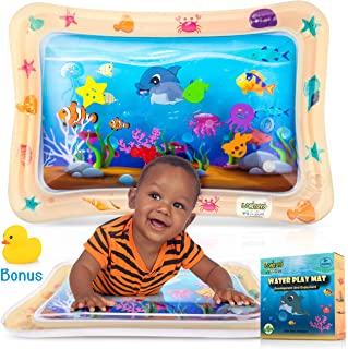 Inflatable Water Play Mat, Baby water mat Infants & Toddlers, Early Development Toy for 3- 12 Months, Newborn Boy Girl, Activity Center Your Baby's Stimulation Growth, Tummy Time Inflatable Water Mat