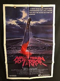 Night Train To Terror 1984 Original Vintage One Sheet Movie Poster, Horror, Hell, John Phillip Law
