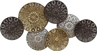 Stratton Home Décor Stratton Home Boho Metal Plates Decor Wall Décor, Black, Gold, Silver
