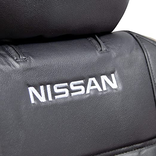 Details about  /CAR SEAT COVERS FOR NISSAN PRIMERA  FRONT SEATS BLACK WHITE STRIPES