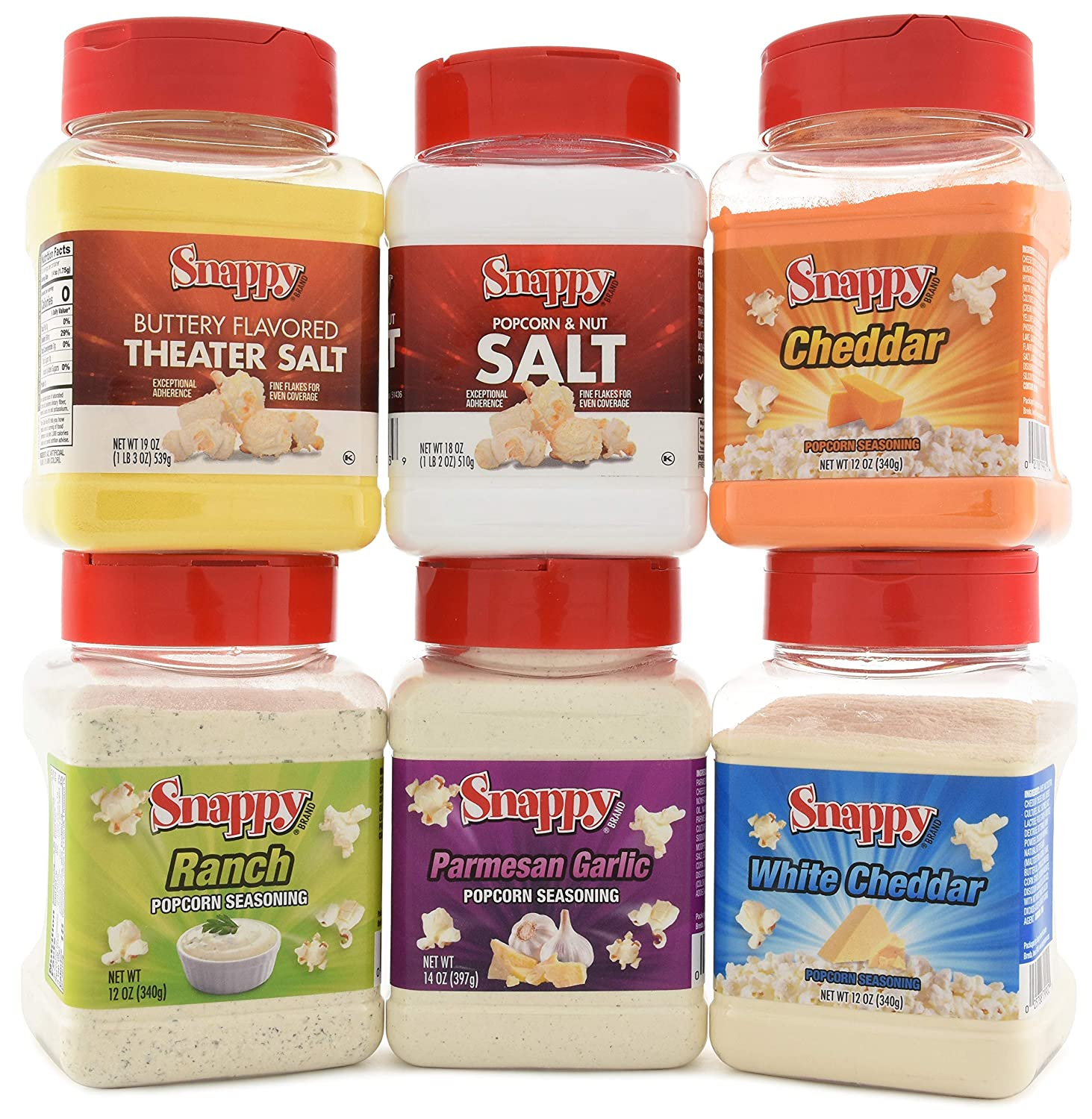 Snappy Popcorn Seasoning and Salt Max Sale item 58% OFF Theater Pack Variety