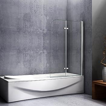 Mampara de baño con Panel pivotante de 180°, Cristal Antical de 6 mm 90x140: Amazon.es: Bricolaje y herramientas