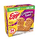 Kellogg's Eggo, Cinnamon Toast, Frozen Waffles, Easy Breakfast, Family Pack, 25.8 oz Box (24 Count)