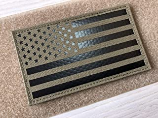 5x3 inch Large Coyote Brown Tan Infrared IR US USA American Flag Patch Tactical Vest Patch Hook-Fastener Backing (5