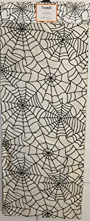 Thro Marlo Lorenz Halloween Spiderweb Table Runner 72 x 14 Black