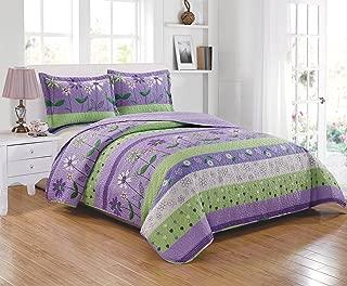 purple lime green comforter