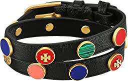 Tory Burch Semi-Precious Double-Wrap Bracelet