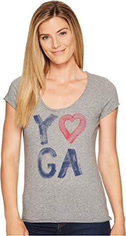 Life is Good - Yoga Heart Smooth Tee