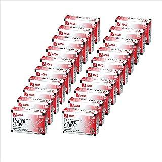 کلیپ های کاغذی ACCO ، # 1 اندازه ، اقتصاد ، بدون لغزنده ، 20 جعبه ، 100 / جعبه (A7072393)