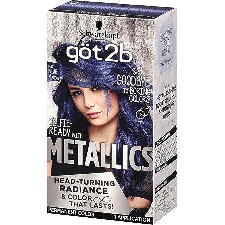 Got2b Metallic Permanent Hair Color, M67 Blue Mercury