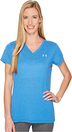 Under Armour - Threadborne Train Short Sleeve V-Neck Heather Top