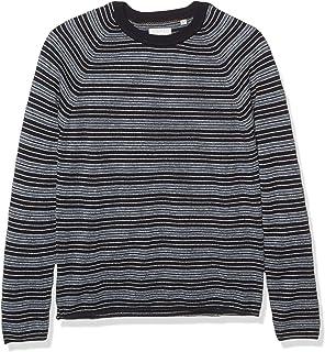 Men's Cotton Silk Speckled Long Sleeve Boucle Crewneck...