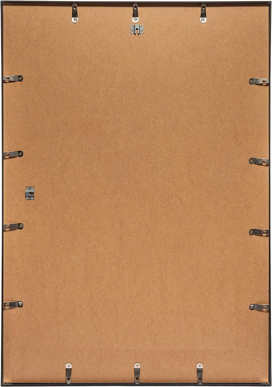 Posterrahmen mit Polyesterglas und Schutzverpackung 3-B Bilderrahmen Alu Poster Brushed 60x80 cm Schwarz matt