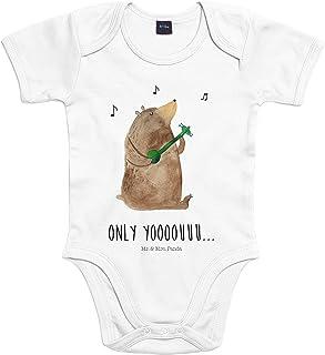 Mr. & Mrs. Panda Mr. & Mrs. Panda Babysuit, Strampler, 18-24 Monate Baby Body Bär Gitarre mit Spruch - Farbe Transparent