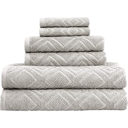 Amazon Com Madison Park Spa Waffle 6 Piece 100 Cotton Towel Set For Bathroom 2 Bath Towels 2 Hand Towels 2 Washcloths Spa Luxurious Jacquard Waffle Comb Textured Design Blue Mp73 5913 Home Kitchen