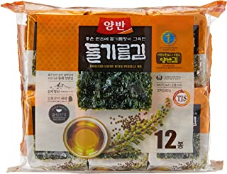 Dongwon Roasted Perilla Seaweed, 5g (Pack of 12)