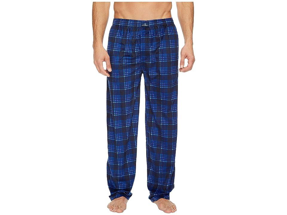 Jockey Matte Silky Fleece Pants (Dark Blue Plaid) Men