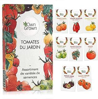 Kit de graines de tomates: lot de 8 variétés de semences de tomate pour le jardin et le potager intérieur - Variétés aroma...