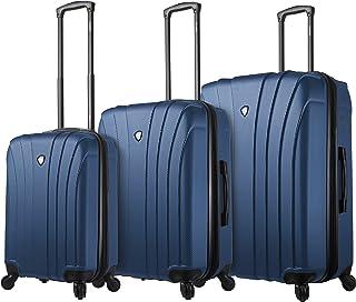 Mia Toro Italy Nicosia Hardside Spinner Luggage 3pc Set,Black