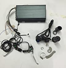 48V /60V /72V 96V 5000W 100A Sabvoton Sine Wave Programmable Controller + LED voltage display Twist Throttle with Electric Switch +Brake Lever+ Torque arm for 48-96V 5000W Ebike Motor/E-bike Kit