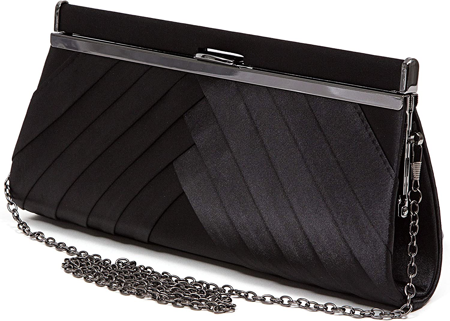 Satin Pleated Clasp Ranking TOP3 BAG Handbag DIANE Free shipping anywhere in the nation