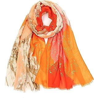KAVINGKALY femmes mode écharpe cou foulards femme grand long châle doux confortable Design couleurs mélangées motifs géomé...
