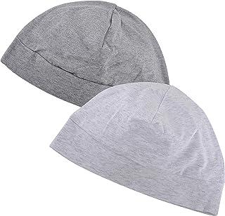 EINSKEY Sleep Cap, 2 Pack Unisex 100% Cotton Hat Indoor Skull Cap for Chemo, Hair Loss