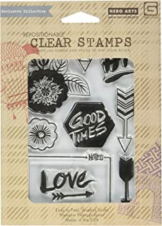 Basic Grey Highline Clear Stamps By Hero Arts-Good Times