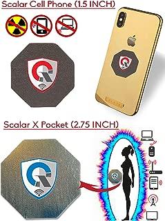 More at 1 EMF Protection Cell Phone Shield for EMR/EMF Radiation Blocker + 1 Personal EMF Protector Scalar Energy Field Device, WiFi Shielding (Three International Awards)|Premium Bundle