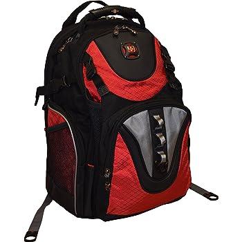 "SwissGear Maxxum Double Zipper Backpack With 16"" Laptop Pocket, Black/Red"