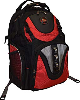 "SwissGear® Maxxum Double Zipper Backpack With 16"" Laptop Pocket, Black/Red"